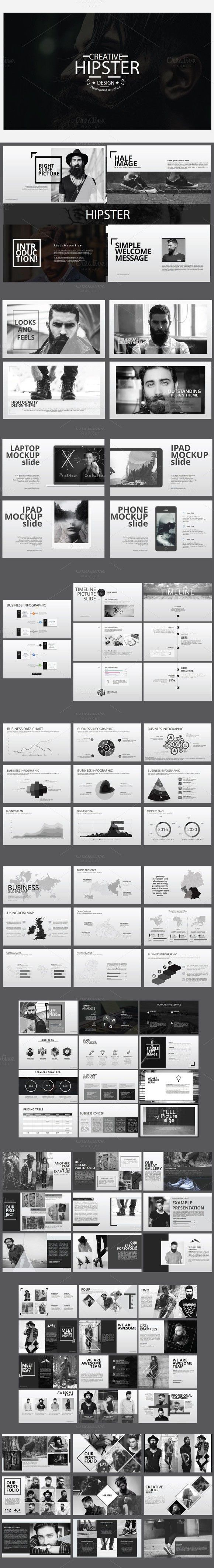 Hipster Business Template. Presentation Templates. $14.00