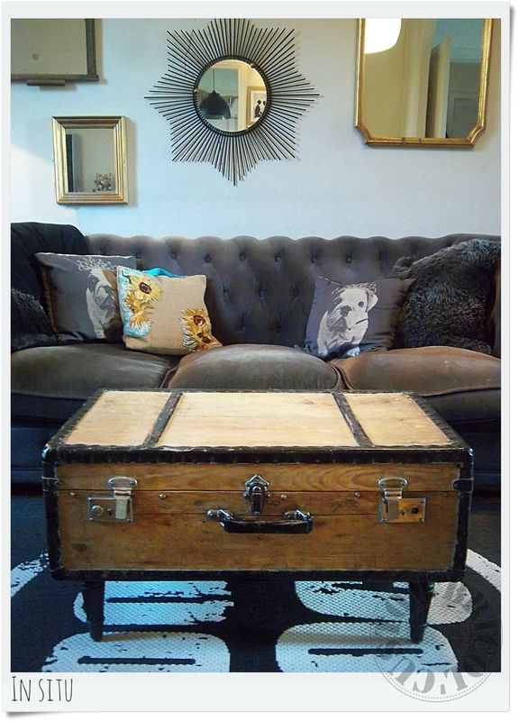 suitcase turn in table by Custom'Bricol