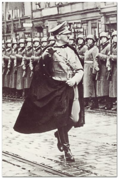 fuhrer3345:  Hitler's pre-war cape   It was all fine and dandy until it got sucked into the engine of an ME-262…