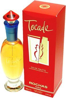 Tocade Rochas perfume - a fragrance for women 1994, A fragrance made for Snow White? lol. I actually really love the design and colors of the bottle.