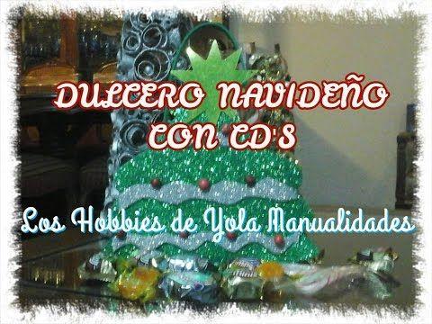 DIY DULCERO NAVIDEÑO CON CD'S. Los Hobbies de Yola🎄🎅😋