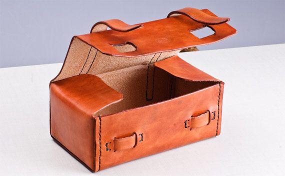 Leather Handmade travel Dopp Kit / Toiletry por BroLeatherWorks