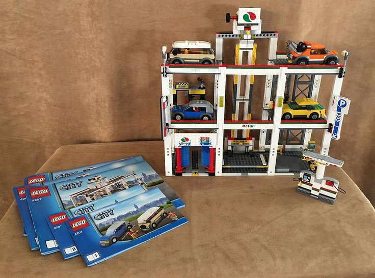 7642 LEGO Complete City Garage car town multiple level downtown building high #LEGO