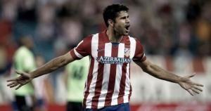 Diego Costa es el goleador del Atlético de Madrid en esta temporada. April 07, 2014