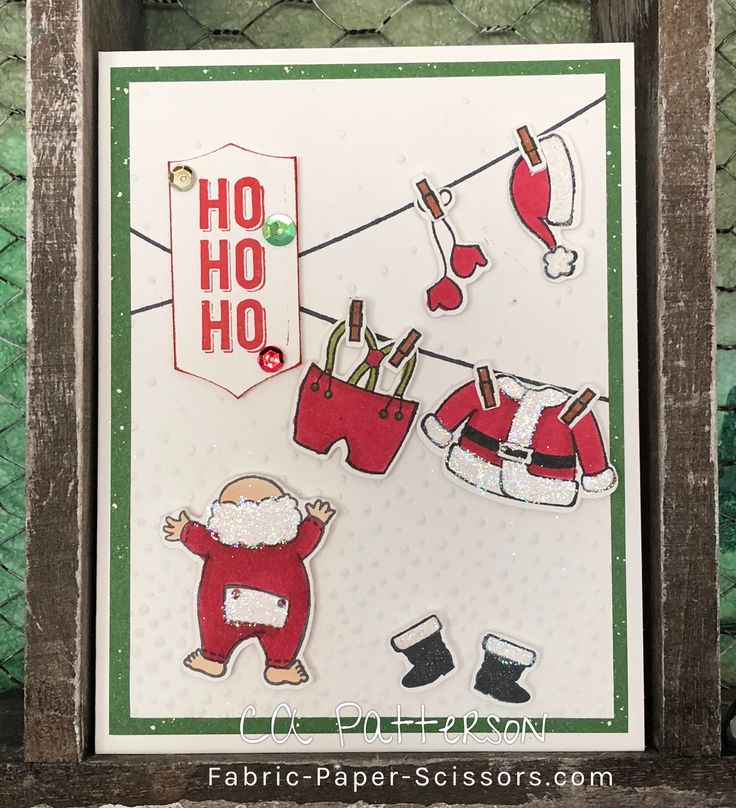 Santa's Suit by Stampin' Up! It's a clothesline full of the jolly gents clothes!