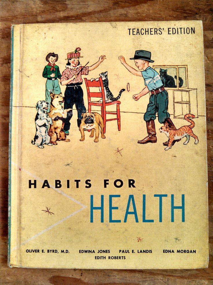 Vintage 1963 Habits For Health: Teacher's Ed - elementary school health textbook #Textbook
