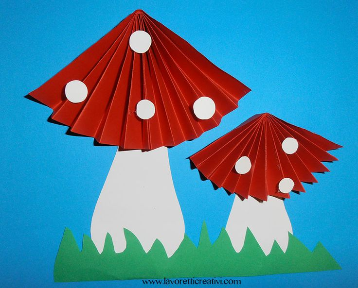Funghi a fisarmonica per decorazioni autunnali
