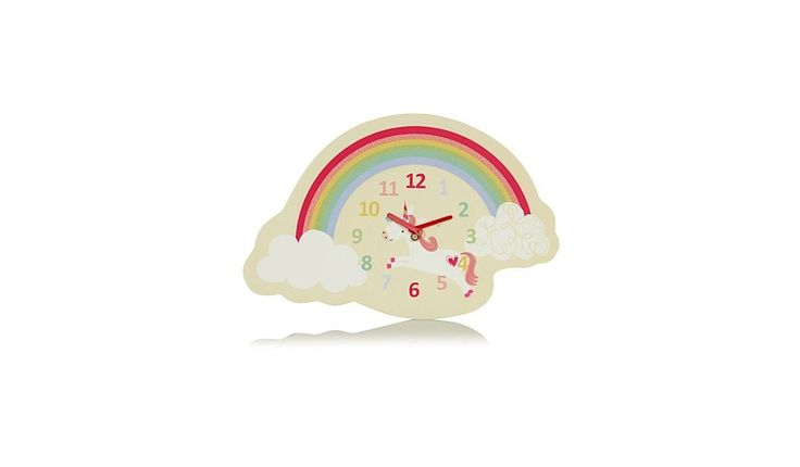 George Home Unicorn Wall Clock, read reviews and buy online at George at ASDA. Shop from our latest range in Home & Garden. Add a little magic to their room ...