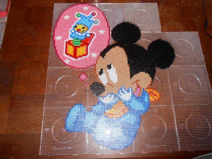Baby Mickey Mouse hama perler beads by  swarovski - hama.dk