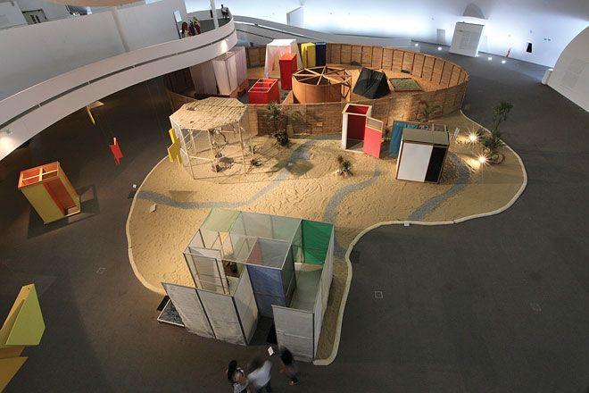 Hélio Oiticica,Tropicália, 1967. Installation view: Museu é o mundo at Museu Histórico do Estado do Pará, Belém, Brazil (2011)