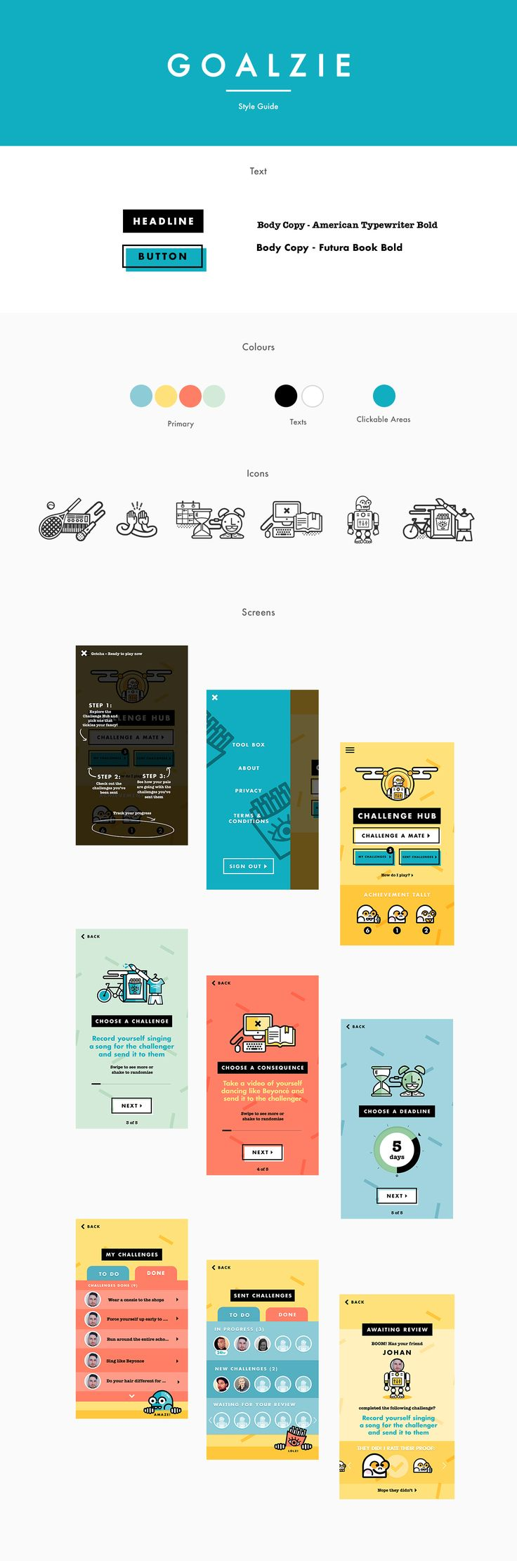 Design Direction / App UI Design / IllustrationGoalzie is a mobile app created…