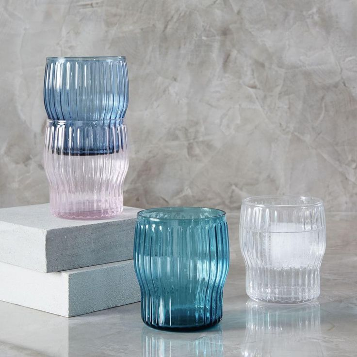 Stackable Ribbed Glassware