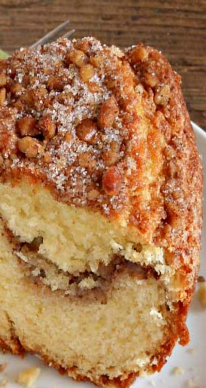 Easy Cinnamon-Walnut Coffee Cake Recipe — Dishmaps