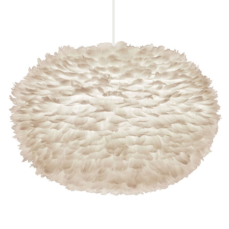 Vita EOS - Suspension Plume Blanc XL Ø75cm + Câble blanc 2,1m