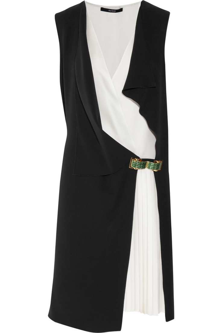 GUCCI  Double-layered silk-georgette dress