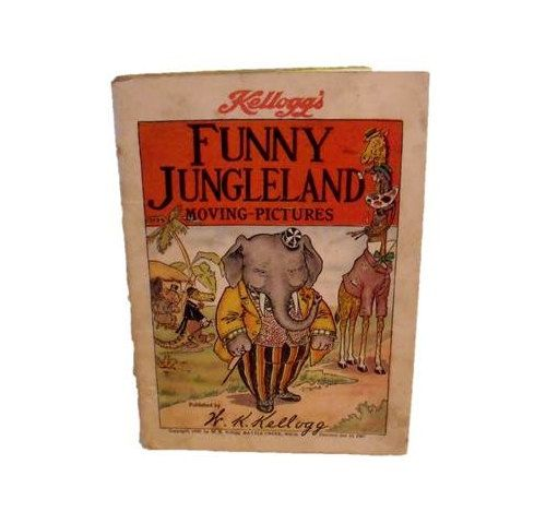 Funny Jungleland  1909 Kellogg's moving picture book by wonderdiva, $22.00