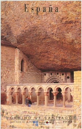 Aragon, Huesca, claustro romantico del Monasterio de San Juan de la Peña 1998