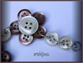 qualche altro gioiello realizzato coi bottoni ,ormai me li mangio da quanto mi piacciono!!!!!!!!!!!!!!   in madreperla           con i bott...