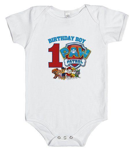 Paw Patrol 1st Birthday onesie t-shirt