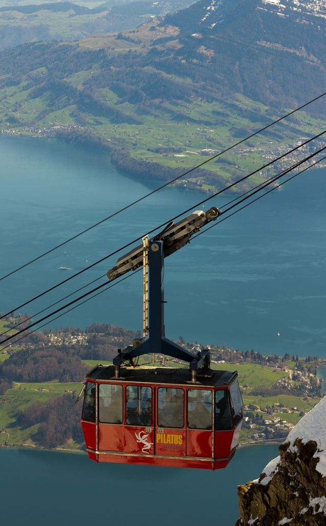 Mount Pilatus Cable Car, Switzerland. Hiked Mt Pilatus summer 2012 and it was one of the most beautiful sites at the top.