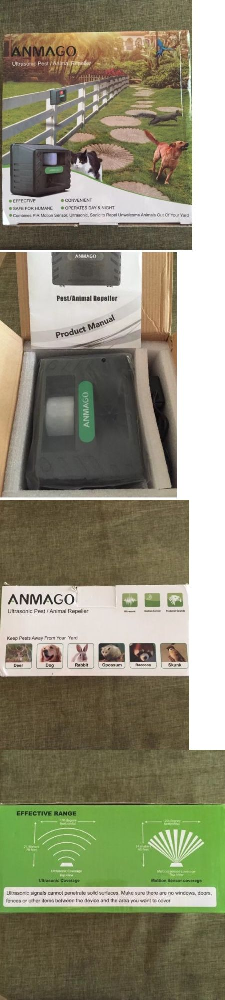 Ultrasonic Pest Repellers 181035: Anmago Animal Repellent Ultrasonic, Outdoor Electronic Pest Animal Control New -> BUY IT NOW ONLY: $32.99 on eBay!