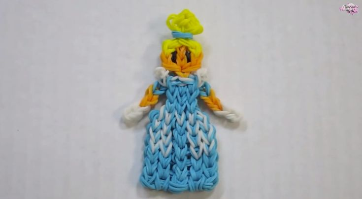 Disney Princess Series Cinderella Rainbow Loom band charm Action Figure Figurine Tutorial - YouTube If your child has mastered the art of loom band bracelet making, and wants to try something a little more complex, here are some fabulous tutorials on how to make some character loom band charms. #loombands