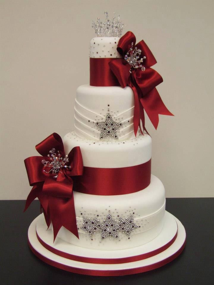 December Wedding Is Red Your Color This Is The Cake For