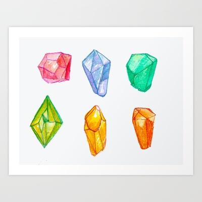 Minerals Art Print by MollyAlyce - $14.00