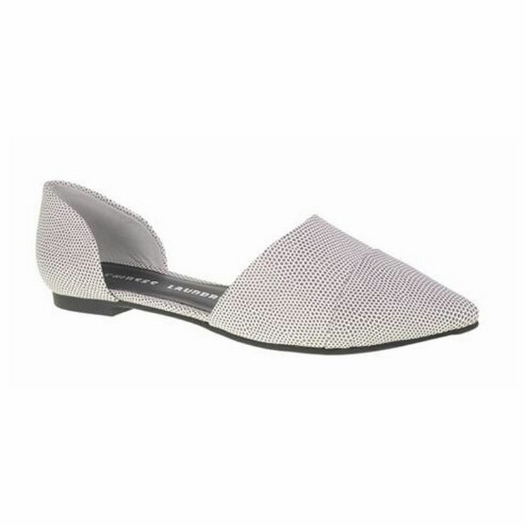 Black & White Speckle Easy Does It Flat | 27 Boutique The Easy Does It Flat from Chinese Laundry. Super chic black and white speckled flats featuring a pointed toe and exposed center.