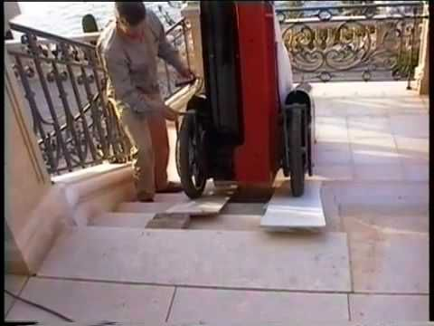piano transport by one man with the Klavier-Roller machine - YouTube