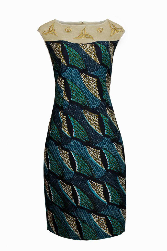 T-dress, organza and African print dress.