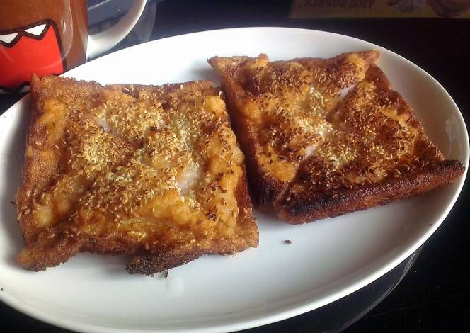 Sesame prawn toast Recipe -  Yummy this dish is very delicous. Let's make Sesame prawn toast in your home!