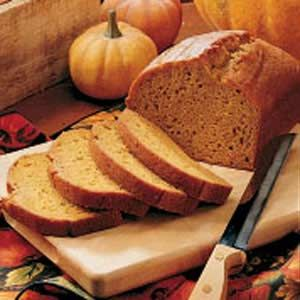 Pumpkin Spice bread. It's been described as tasting like pumpkin pie without the crust and very moist.