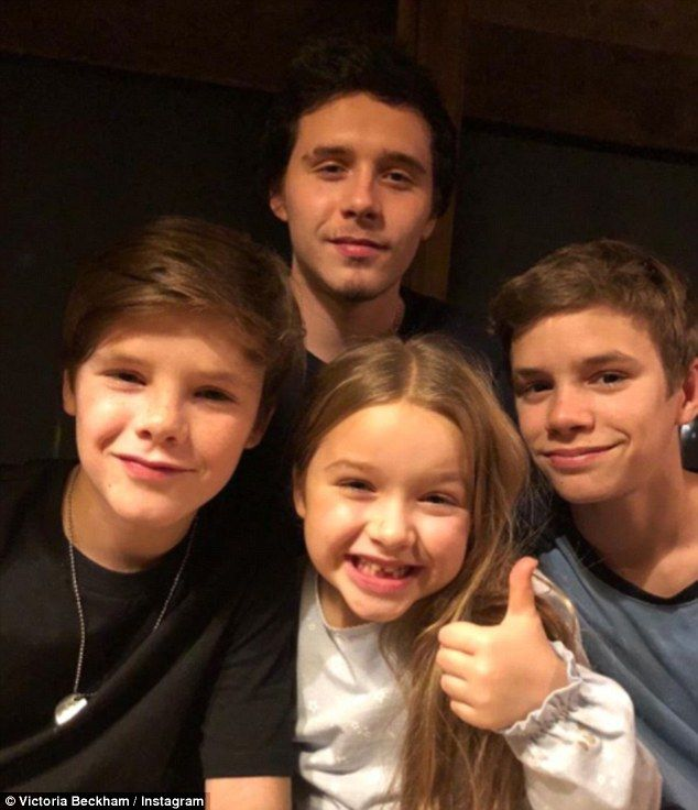 Cute: Victoria Beckham took to Instagram on Sunday to pay a gushing tribute to her eldest ...