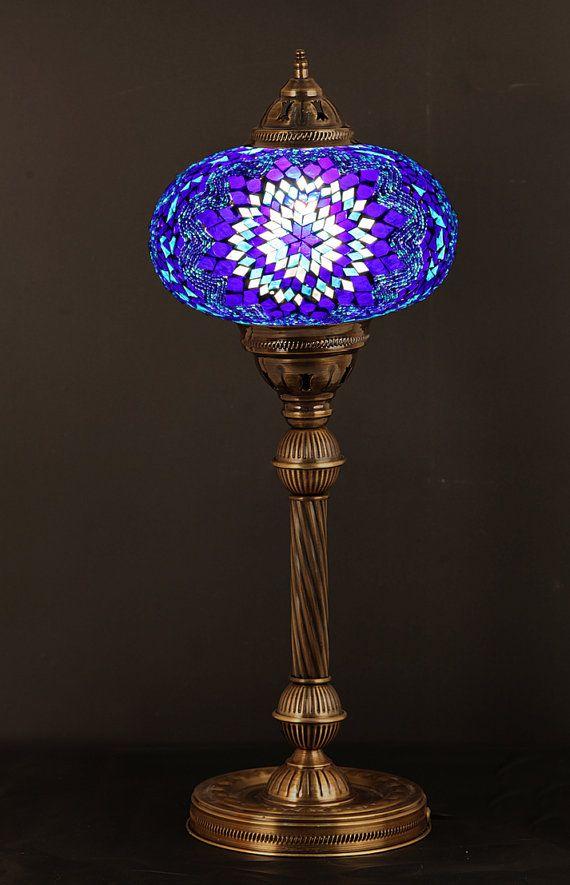 purple lamp shade table lamp boho lamp arabian mosaic lamps by