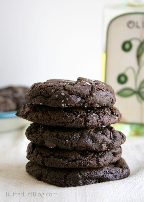 Lactation Cookie Version(dairy free): Olive Oil & Sea Salt Brownie Cookies  I subbed coconut oil for the olive oil (personal preference) and added 2 TBSP brewers yeast to the flour/cocoa mixture. I used 1 cup of dairy-free chocolate chips and 1 cup of coarsly chopped, lightly salted dry-roasted almonds. Yum!