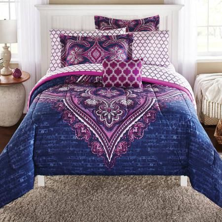 Mainstays Grace Medallion Coordinated Bedding Set - Walmart.com