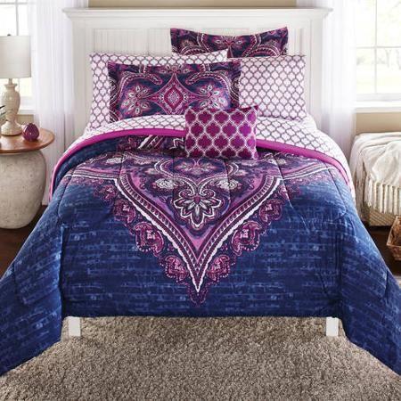 Mainstays Grace Medallion Coordinated Bedding Set - Walmart.com
