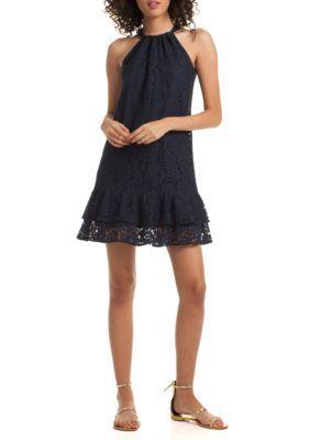 Trina Trina Turk Women's Standout Dress - Indigo - Xs