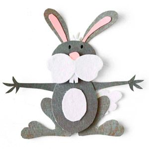 Bunny paper piecing pattern. He looks ready to give a big hug.
