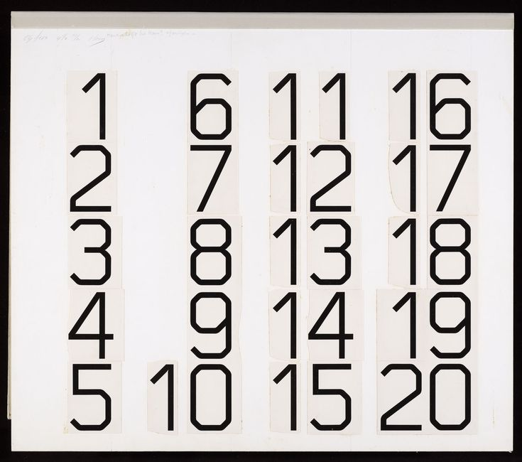 Werktekening randcijfers voor postzegels Nederland 1976 Cijferpostzegel