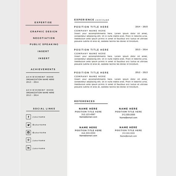 // PROMO CODE: Buy two for $20, use code RGTWO // Download this template pack for a professionally designed and very easy to customize 1 or 2 page resume and matching cover letter + references page. My templates are very easy to customize and I make them with the consumer in mind.