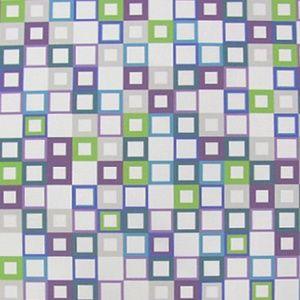 Tkanina GEOMETRIC 'Cube' ze wzorem geometrycznym, fioletowy, niebieski 79zl