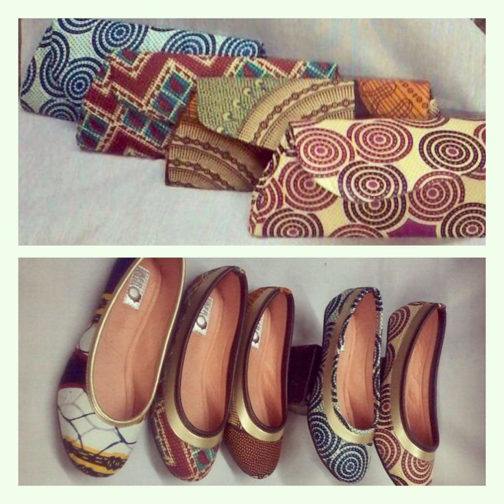 Pumps and matching clutch bags from Afrokulcha