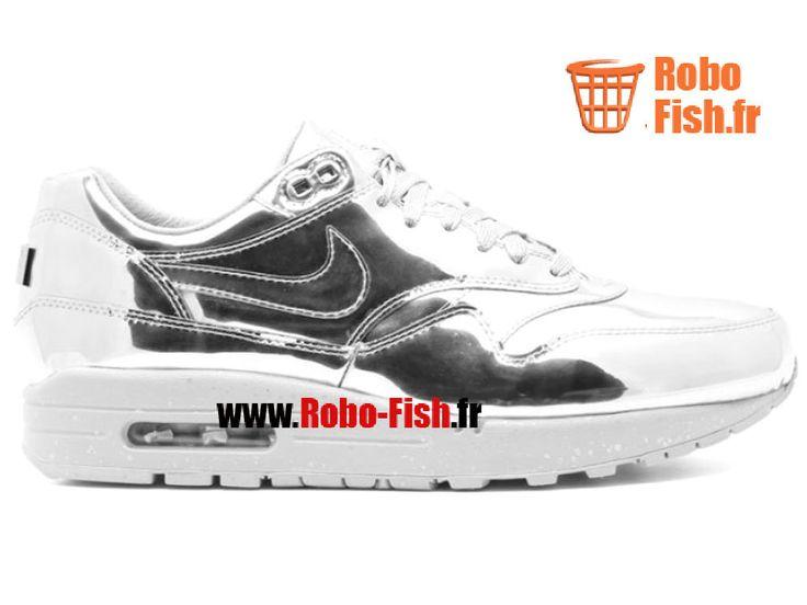 "Nike Air Max 1 Sp ""Liquid Silver"" - Chaussure Nike Running Pas Cher Pour Homme 635786-002"