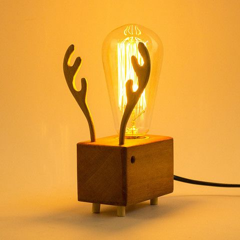 wooden lamps, edison bulbs - Google Search