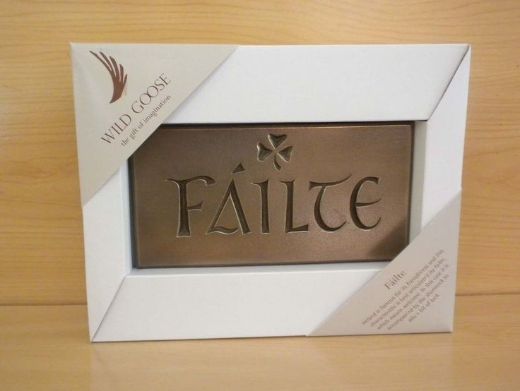 Irish FAILTE Plaque Made in Ireland by The Wild Goose Studio  #IrishFailtePlaque