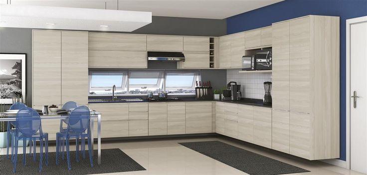 Cozinha Completa Modulada 27 Peças, Nacre 100% BP - Versatti - Kappesberg - Kappesberg
