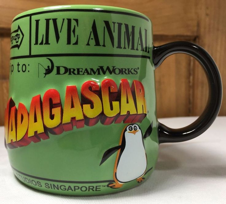 Madagascar Mug 2010 Universal Studios SINGAPORE DreamWorks Animation