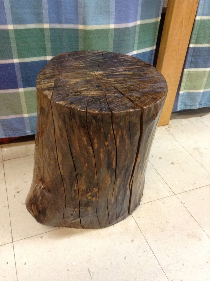 Maple stump side table for Sue - 2014.  At least 7 coats & sanded between each 'till the last coat.  Inspired by Karen Bertelsen.